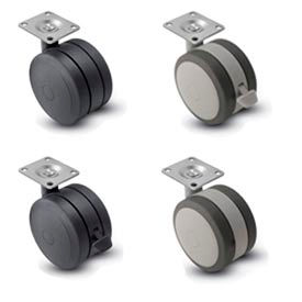 Shepherd Softech Swivel Top Plate Soft Tread Casters