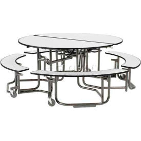 Ki Uniframe® Round Mobile Cafeteria Table With Seating