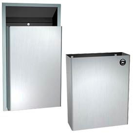 Wall Mount Steel Waste Receptacles