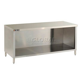 Deluxe Flat Top Stainless Steel Work Tables With Enclosure