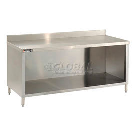 Deluxe Stainless Steel 2-3/4 Inch Backsplash Work Tables With Enclosure