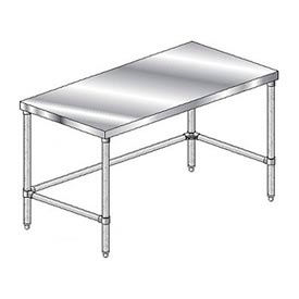 Deluxe Stainless Steel Work Tables With Galvanized Understructure