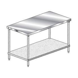 Economy Stainless Steel Work Table With Galvanized Lower Shelf
