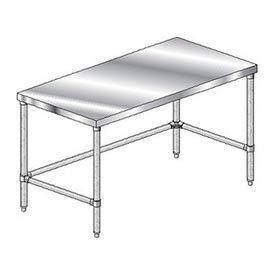 Economy Stainless Steel Work Tables With Cross Bracing