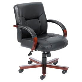 Boss Chair -  Executive Leather Chairs With Hardwood Finish