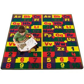 ABC & 123 Educational Rugs