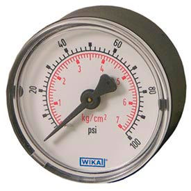 Wika® Steel Center Back Mount Commercial Gauges