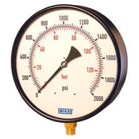"""Wika® Black Steel 10"""" Industrial Pressure Gauges"""