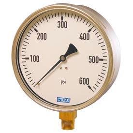 """Wika® Stainless Steel 6"""" Industrial Pressure Gauges"""