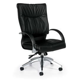Global™ Softcurve™ Leather Upholstered Office Chairs