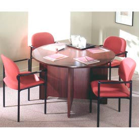 Ironwood -  Round Cross Frame Conference Tables