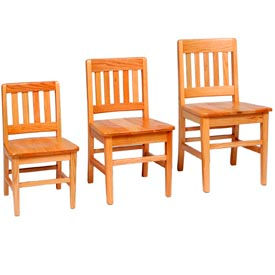 Georgia Chair -  Vertical Slat Saddle Seat Classroom Chairs