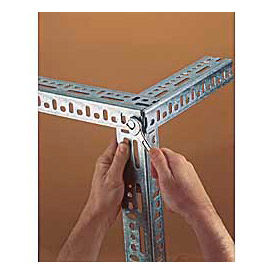 Lyon® 14 & 12 Gauge Galvanized Slotted Angle - 8', 10' & 12' Lengths