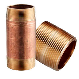 Red Brass Seamless Schedule 40 Pipe Nipples