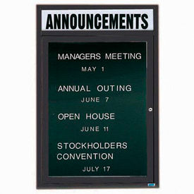 Outdoor Non-Illuminated 1 Door Letter Boards
