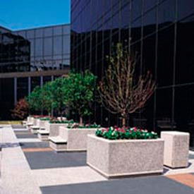 Wausau Tile - Square Concrete Planters – 48 To 96 Inch Wide