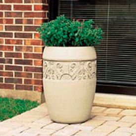 Wausau Tile - Round Concrete Planters – 18 To 20 Inch Wide