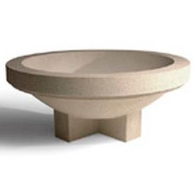 Wausau Tile - Round Concrete Planters – 48 Inch Wide