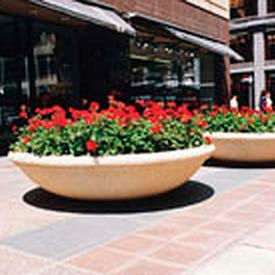 Wausau Tile - Round Concrete Planters – 72 Inch Wide