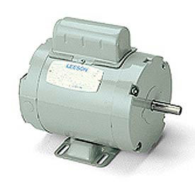 Leeson Aeration Fan Motors, Belt-Driven, Dust Tight, Single-Phase, TEAO, Rigid Base