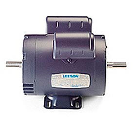 Leeson Woodworking Motors, Double-Shaft, Single-Phase, Drip-Proof, Rigid Base