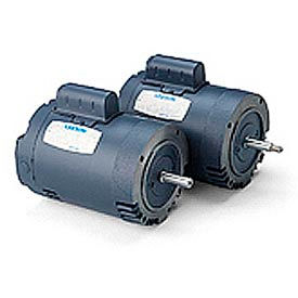 Leeson Pool Motor, Aluminum C Face Less Base, Single-Phase, Drip-Proof