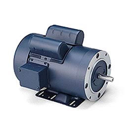 Leeson Pressure Washer Pump Motors, Low Amp. Design, C Face With Base, 1-Phase, TEFC