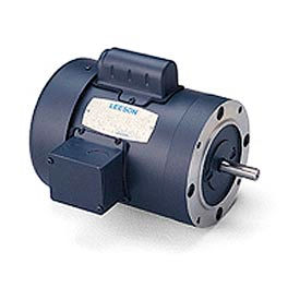 Leeson Woodworking Motors, Single-Phase, TEFC, C Face Less Base