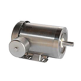 Leeson Extreme Washguard All-Stainless Steel, 3-Phase