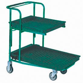 Plastic Deck Stocking Carts With Retractable Shelf