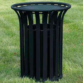 Jayhawk Plastics Providence Steel Trash Receptacles