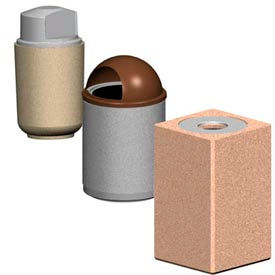 Round And Square Concrete Receptacles