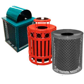 Outdoor Metal Waste Receptacles