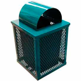 Square Expanded Metal Waste Receptacle