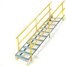 "Equipto - Galvanized Stairways with Railing 24"" - 48"" Widths"