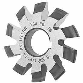 Involute Gear Cutters w/ 20° Pressure Angle