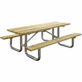 Leisure Craft -  Wooden Picnic Tables with Galvanized Steel Frame