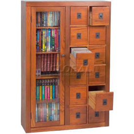 Leslie Dame -  Solid Oak Combination Multimedia Storage Cabinets