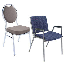National Public Seating® Fabric Upholstery Stackable Chairs