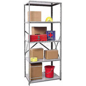 "Hallowell Open Steel Shelving - 20 & 22 Gauge - 87"" High"