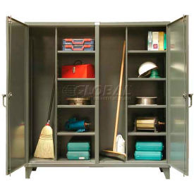 Stronghold® Double Door Independent Locking Closet Storage Cabinet