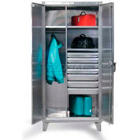 Stronghold® Stainless Steel Combination Cabinets With Drawers