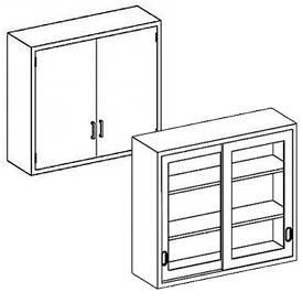 Blickman Wall Medical Cabinets