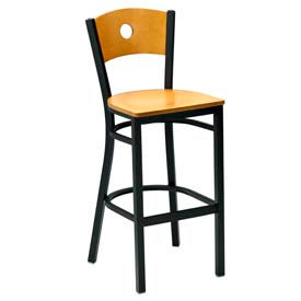 Premier Hospitality Furniture - Wood Back Metal Frame Bar Stools