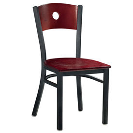 Premier Hospitality Furniture - Wood Back Metal Frame Chairs
