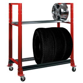 Rolling Tire Storage Rack >> Tire Rack, Spare, New, Used Tire Storage Display Racks at ...