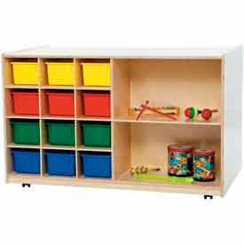 Mobile Cubby And Shelf Multi-Storage Units - With & Without Trays