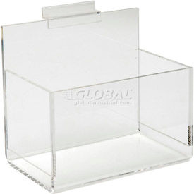 Acrylic Slatwall Shelves, Trays and Bins