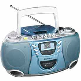 Hamilton Electronics - CD, Cassette and AM/FM Radio Boom Box