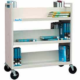 Buhl Double-Sided Book Storage Cart